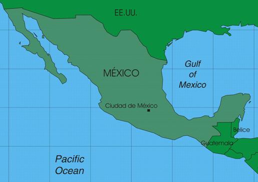 méxico: localização do méxico