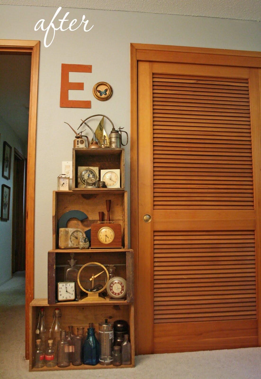 Modish Vintage: DIY: vintage wooden crate storage shelf