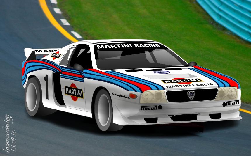 Laser Car Design  Lancia Beta Montecarlo Turbo