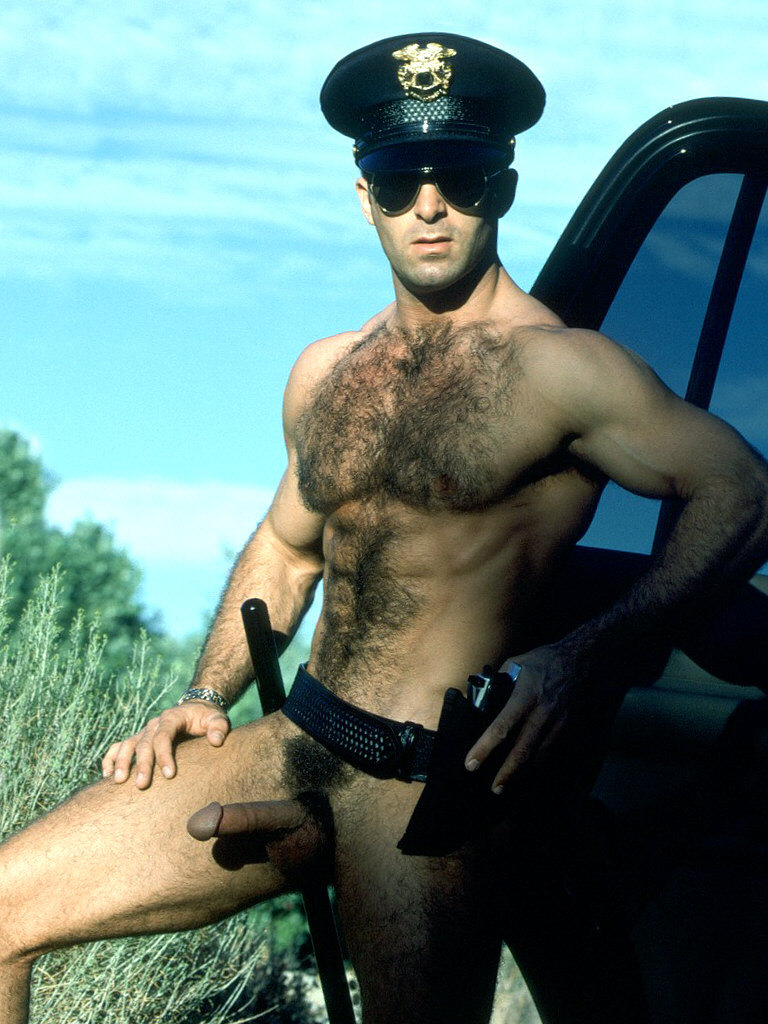 Male cops in the nude