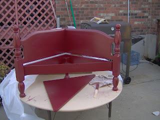 red corner bench