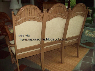 old chairs repurposed