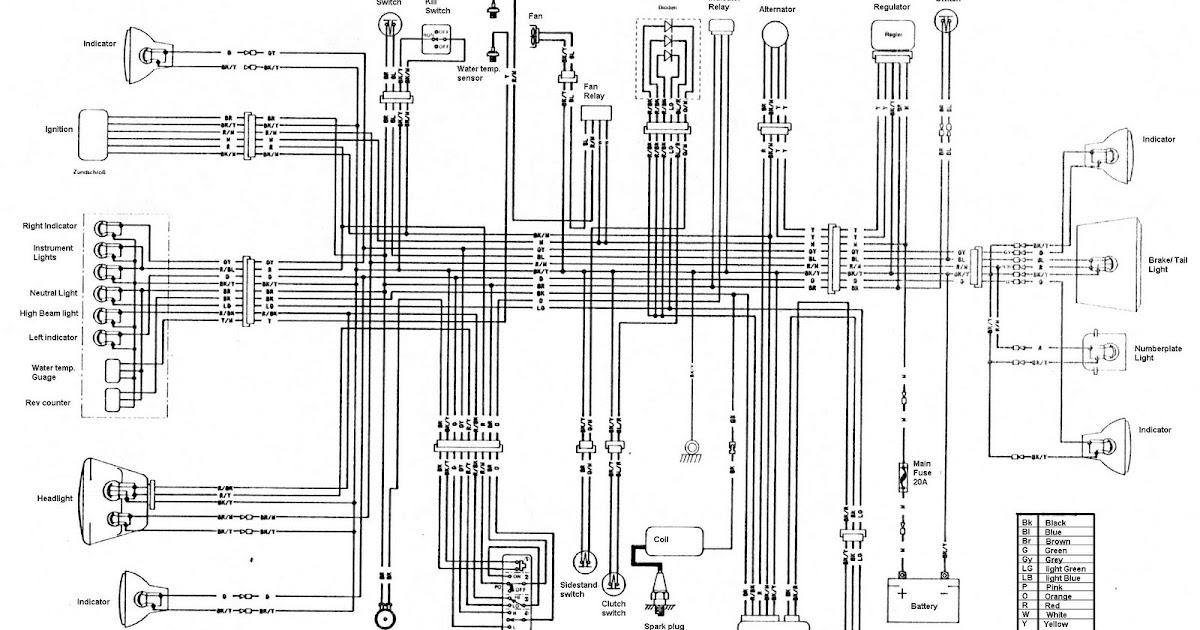 Kawasaki KLR250: KLR 250 Wiring Diagram