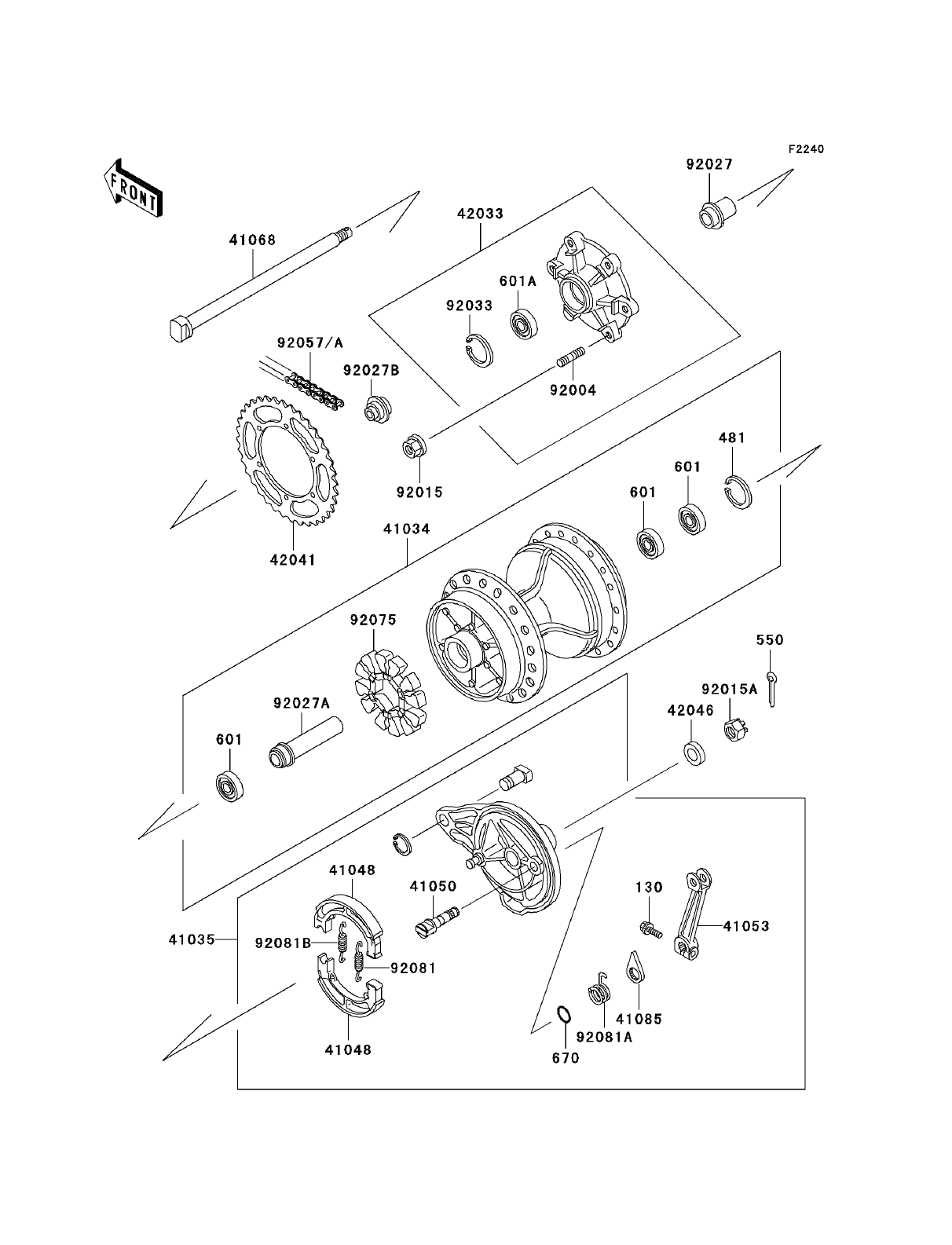 hight resolution of  rear hub and brake