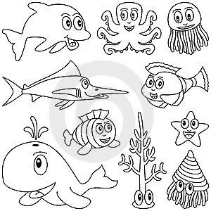 Peixes E Peixinhos Desenhos Para Pintar