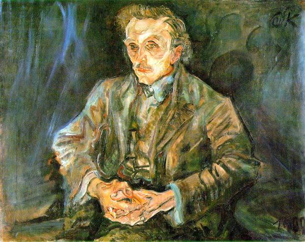 Portrait of Oskar Kokoschka Adolf Loos