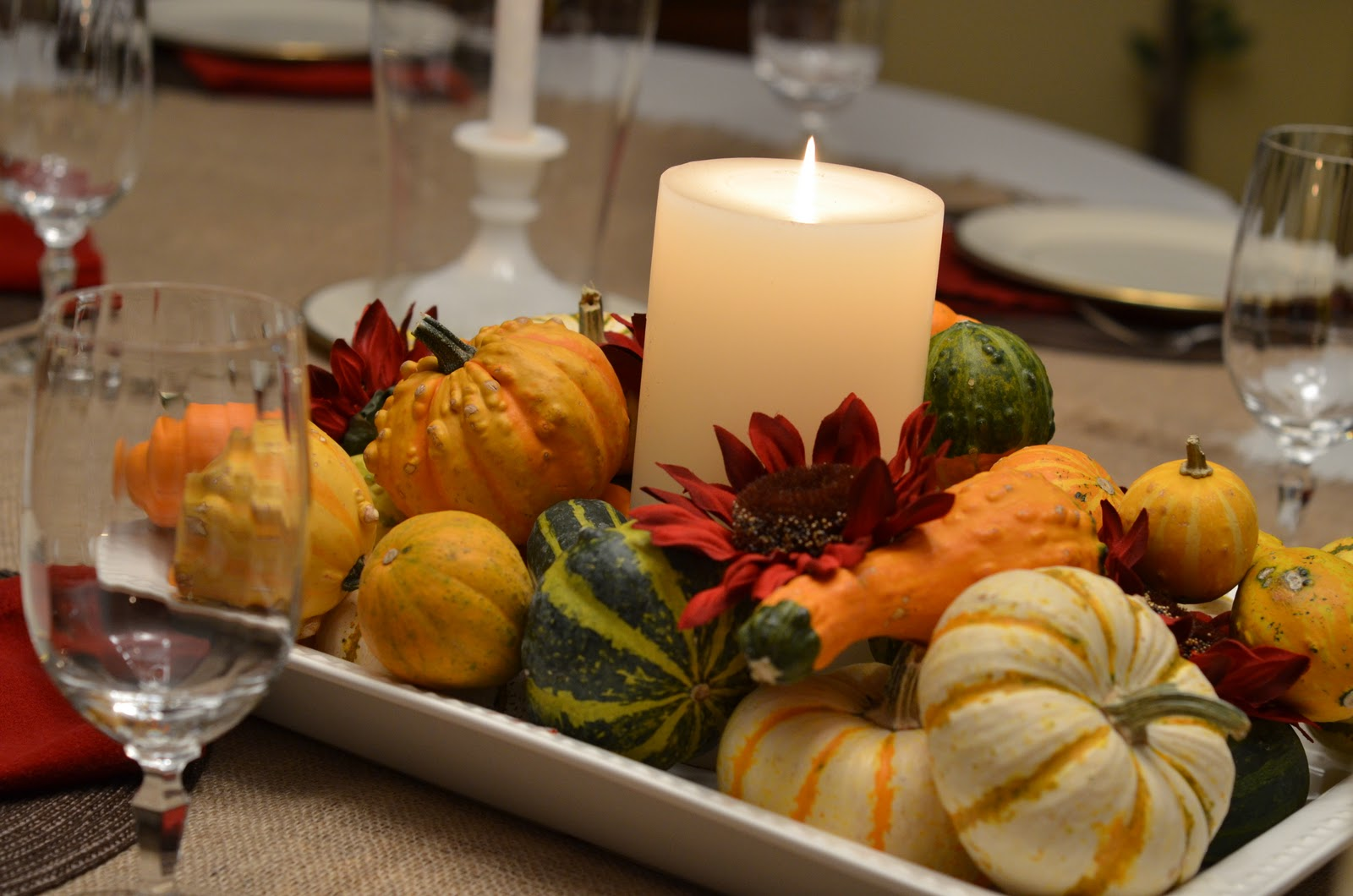 Southern inspirations thanksgiving table dining room tour - Thanksgiving dinner table decorations ...