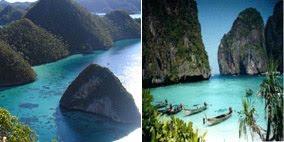 Raja Ampat Papua dan Phi Phi Island, Thailand