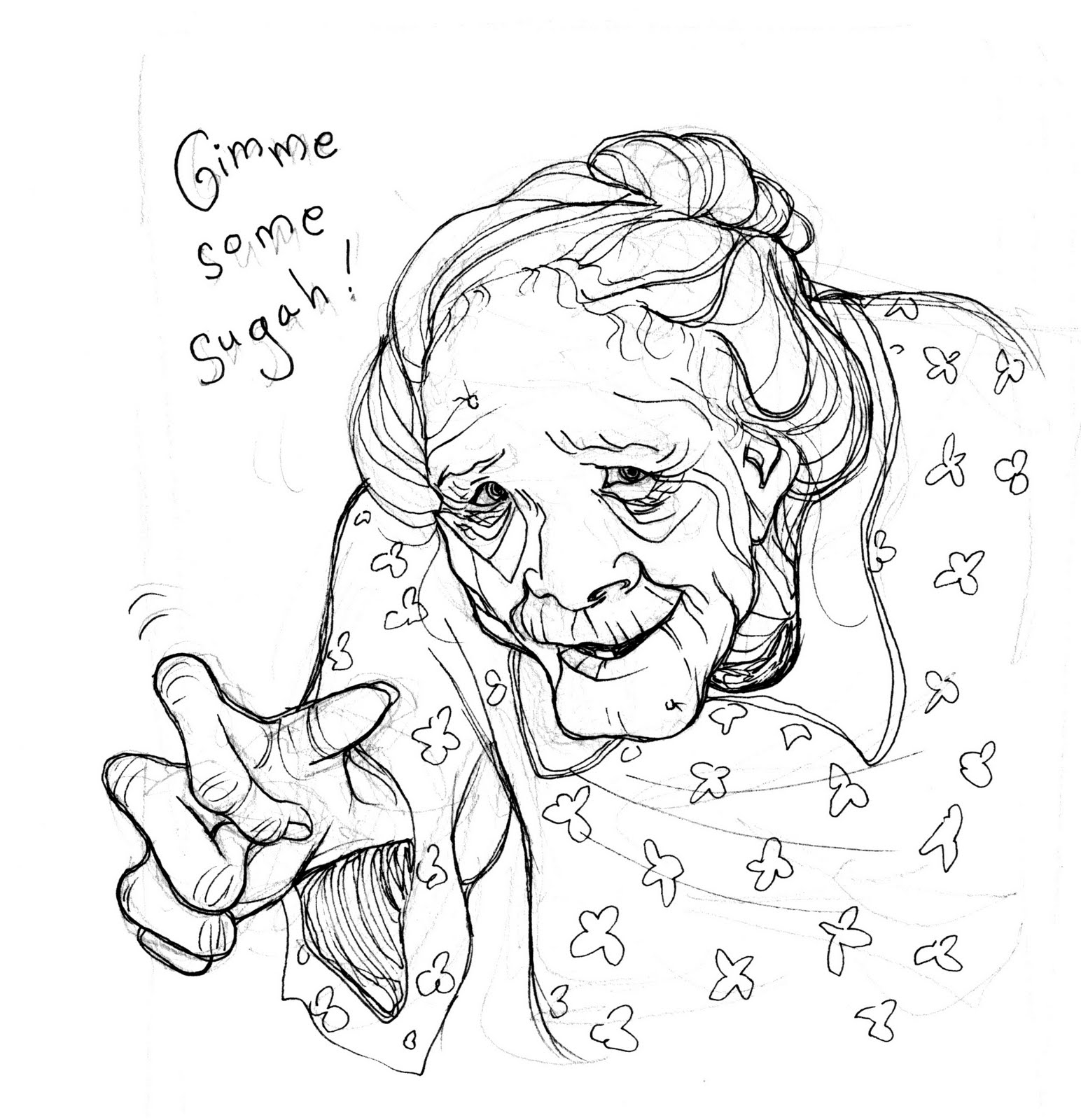 Nicole Tadgell Illustration: Warm up sketch...with ink