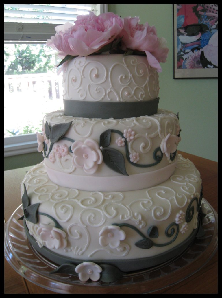 blush pink and grey wedding cake tkdoll wedding cake 12042