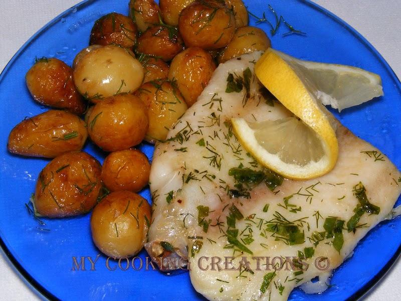 Пангасиус на фурна с бейби картофки * Filetti di pangasio al forno con patate piccoli