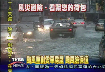 汽車保險,颱風險,洪水險