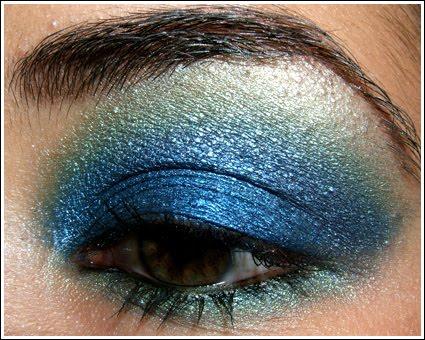 Eye Makeup Ideas Blue Green And Silver Eyeshadow Idea