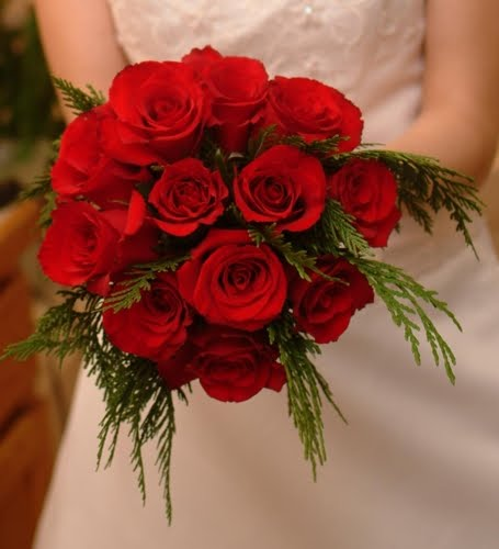 Red Rose Wedding Flowers: Bouquet Bridal: Red Roses Bridal Bouquets