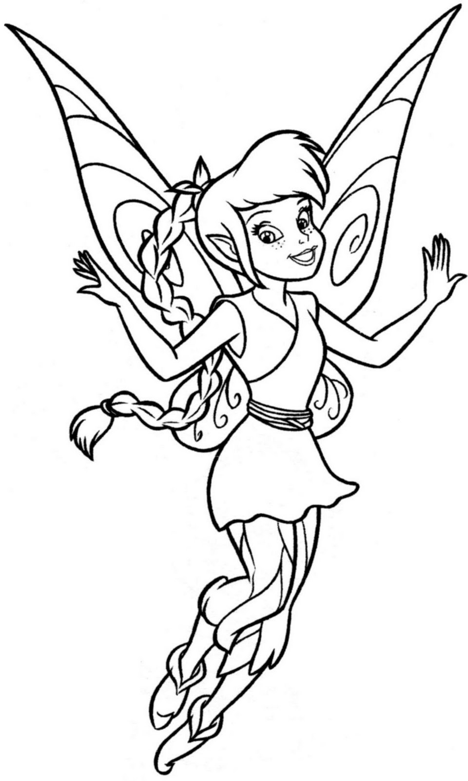 tinkerbell fawn sabrina coloring pages - photo#15