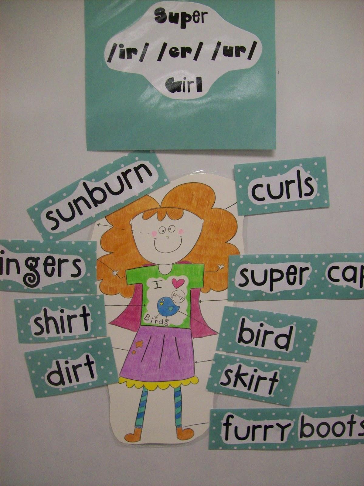 First Grader Last Super Ir Er Ur Girl