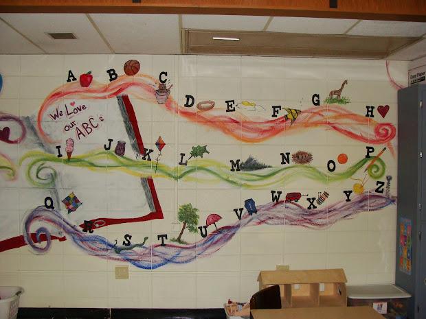 """"""" Masterpiece"""" Preschool Mural"""