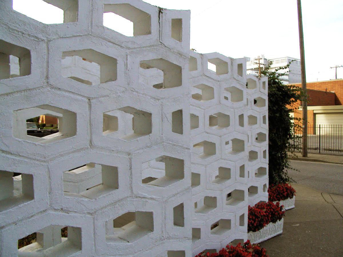 Mid Century Decorative Concrete Screen Block Modern