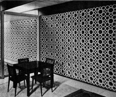 Thuydao Arch Mid Century Decorative Concrete Screen Block