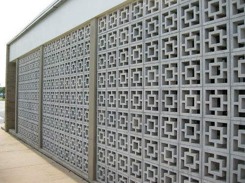 Thuydao_arch: Mid Century Decorative Concrete Screen Block