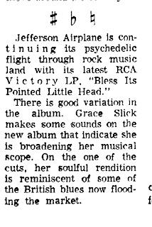Rock Prosopography 101: January-June 1969 Jefferson Airplane