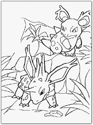 Pokemon Coloring Pages Desember 2008