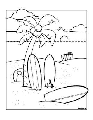 surfboard coloring pages # 27