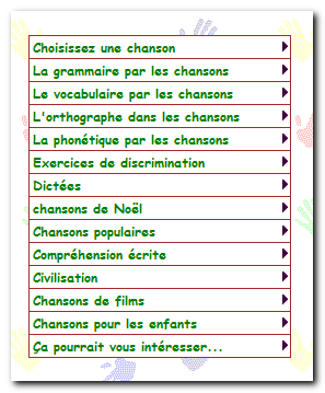 La chanson francophone en cours de FLE. تعلم اللغة الفرنسية بواسطة الأغانى