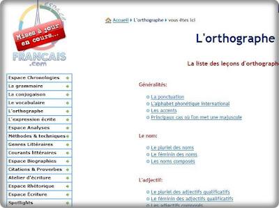 l'orthographe قواعد كتابة الفرنسية