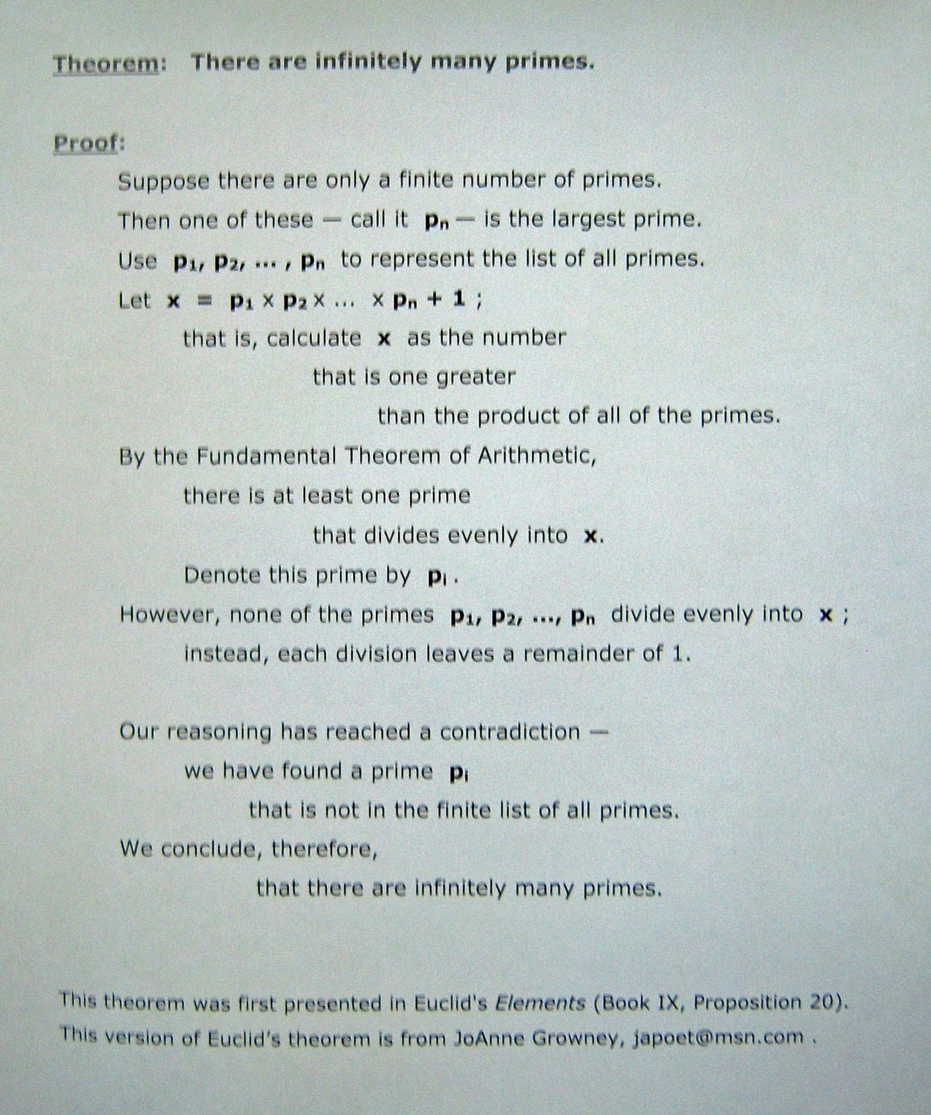 Intersections -- Poetry with Mathematics: Theorem-proof / Cut-up / poems