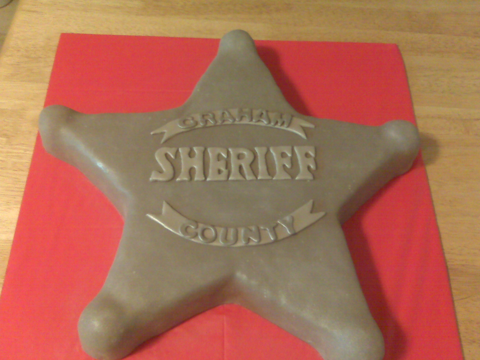 Cici S Cakes Sheriff Badge Cake
