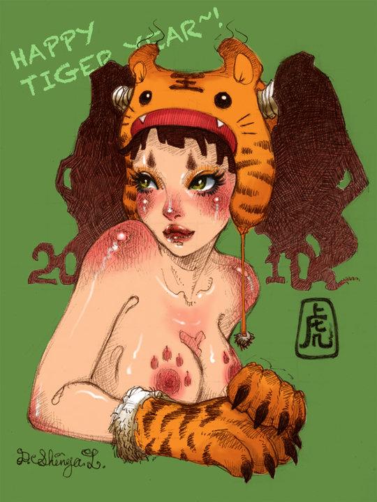tiger girl april and mastodon