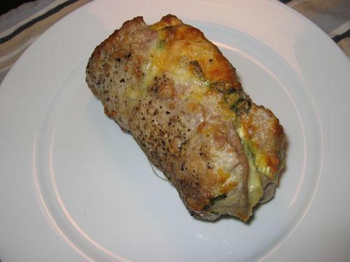 Goat Cheese Stuffed Pork Tenderloin
