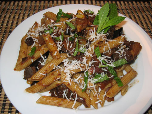 Caponata on Penne