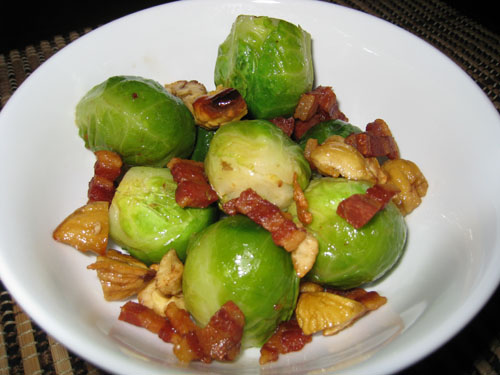 Brussels Sprouts with Pancetta and Chestnuts