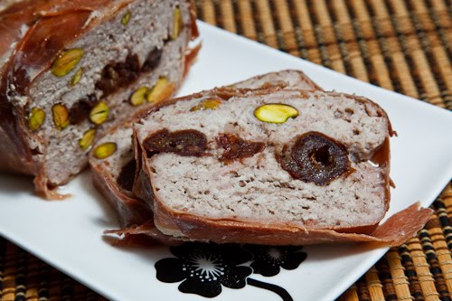 Date and Pistachio Terrine, Sliced