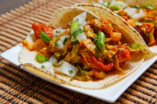 Korean Spicy BBQ Chicken Tacos
