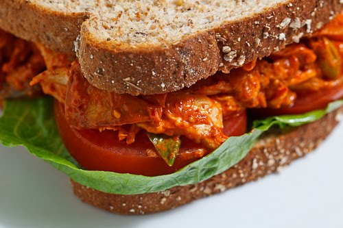 Kimchi Chicken Salad Sandwich