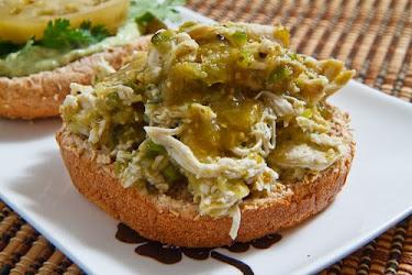 Salsa Verde Pulled Chicken Sandwich