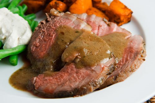 Roasted Lamb in Coffee Sauce