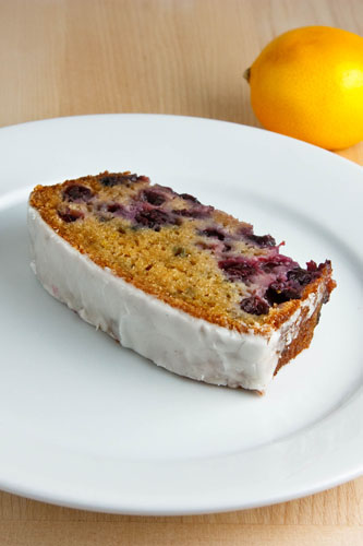 Lemon Yogurt Cake with Blueberries