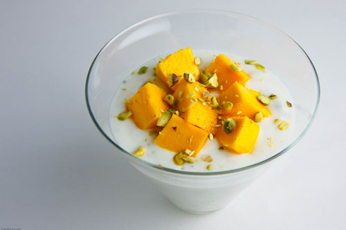 Mango Shrikhand on Closet Cooking