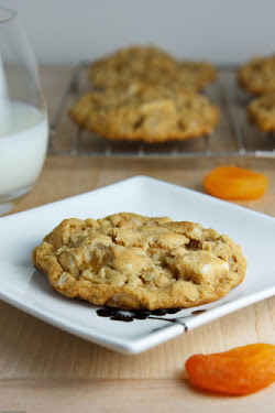 Apricot and White Chocolate Oatmeal Cookies
