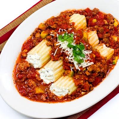 Manicotti in Chorizo Sauce