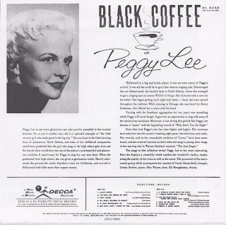 MAGIC NOTES: PEGGY LEE - BLACK COFFEE (DECCA 1956) Jap ...