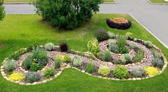 Design of garden Ландшафтный дизайн Проекты цветников 3