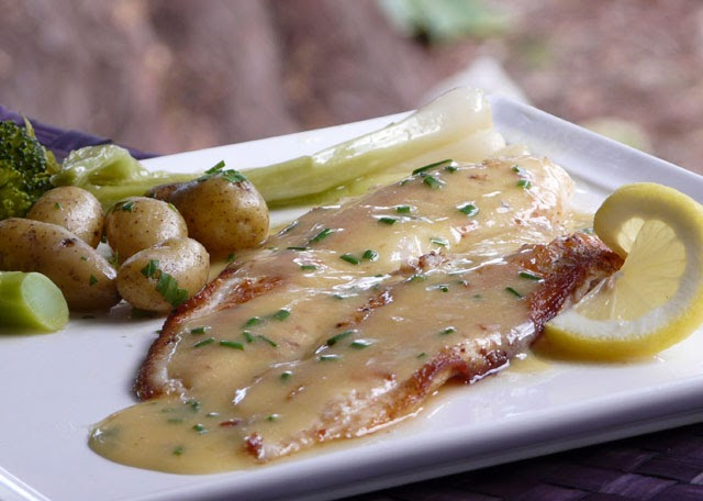 Thibeault S Table Petrale Sole With A Beurre Blanc Sauce