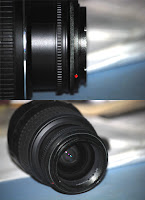 Lens with ring screwed on