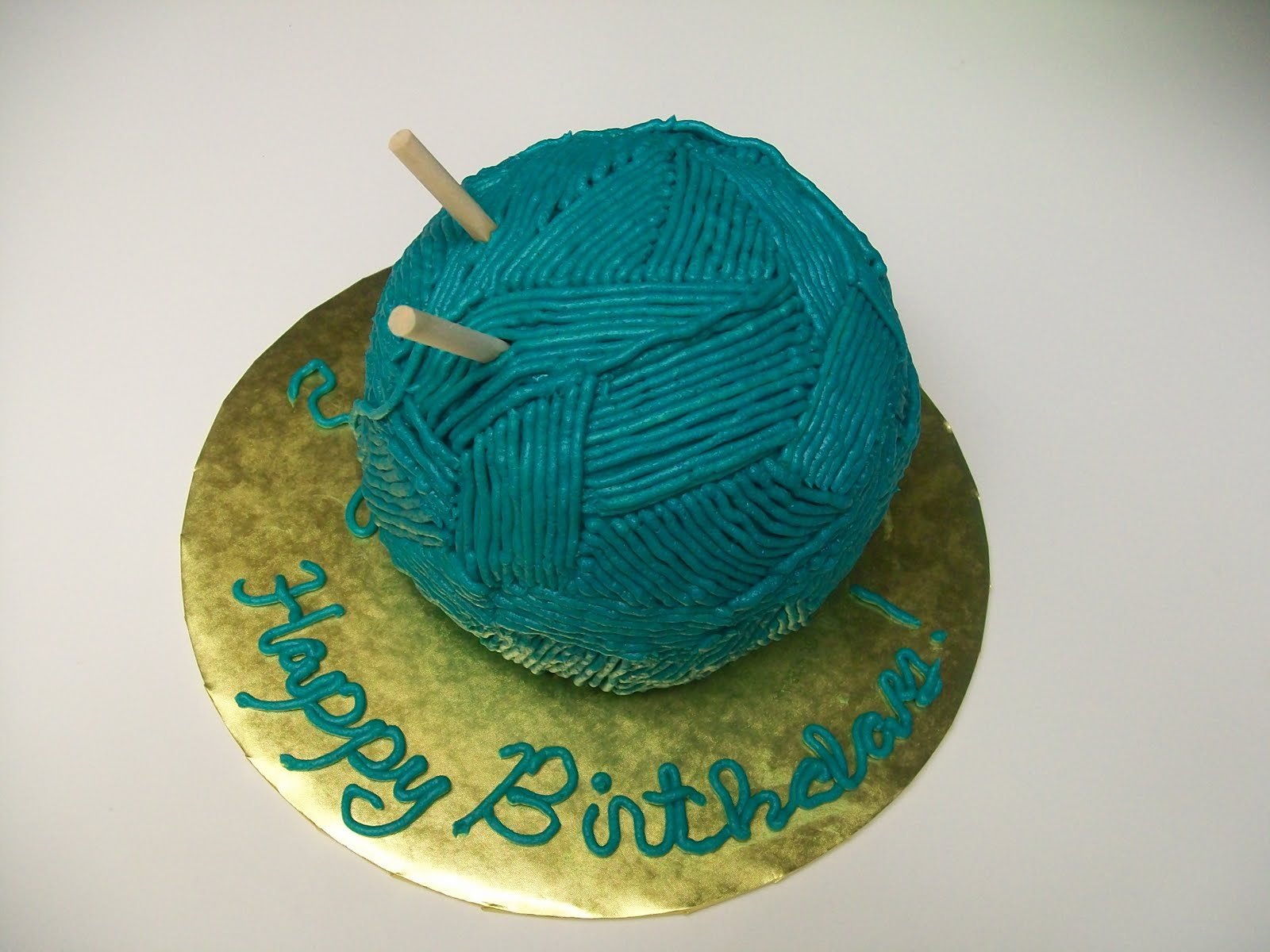 Grandmas Birthday Ball Of Yarn Cake