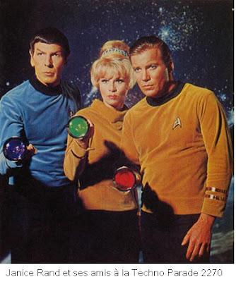 Janice rand avec kirk et spock et fan de LACN